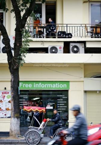 Street life with French influence, Hanoi, Vietnam