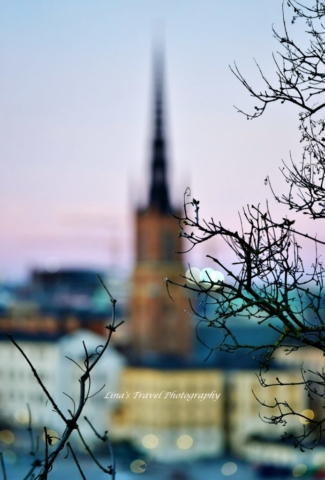 Beautiful dreaming of Church at Knight's Islet (Riddarholmkyrkan), Stockholm, Sweden