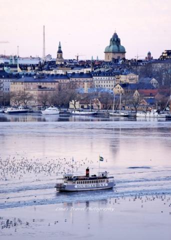 Riddarfjärden/Norrmälarstrand in Winter time, Stockholm, Sweden