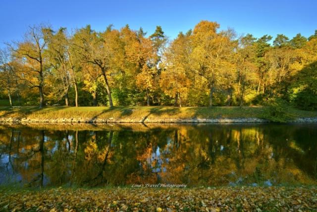 Autumn in reflection, Djurgårdsbrunnskanalen, Stockholm, Sweden