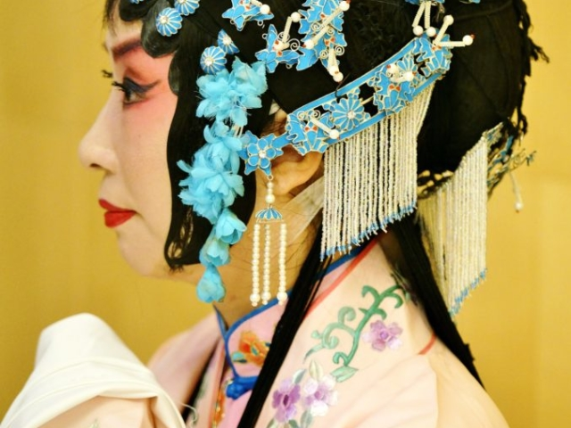 Face and portrait of Kunqu, a kind of Chinese musical drama, China
