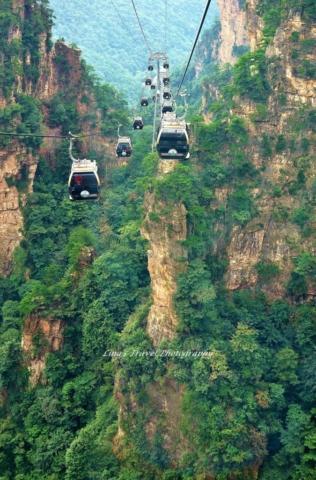 Cable Car from Tianzi Mountain Station, Zhangjiajie National Forest Park, Zhangjiajie, Hunan, China