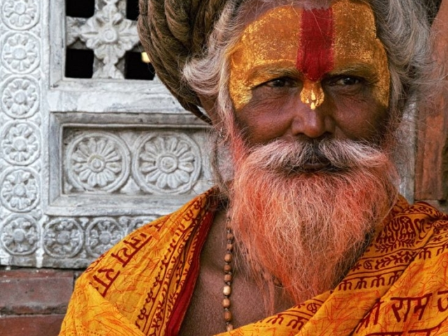 Sadhu Gangababa, 59 years old, lives at Pashupatinath Temple, Kathmandu, Nepal