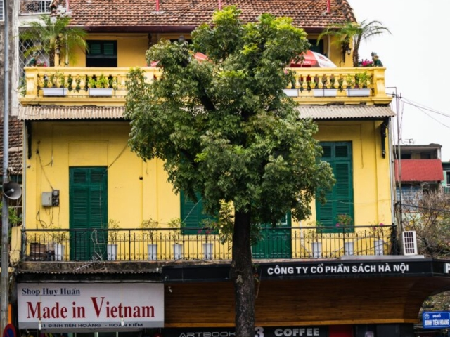 Made in Vietnam: Cyclo vs French Balcony, Hanoi, Vietnam